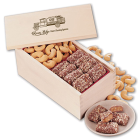 treasure chest Toffee Jumbo Cashews in Wooden box