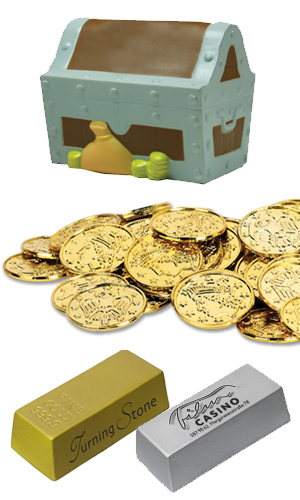 treasure chest coins and tokens